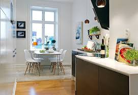 cool white small apartment kitchen table combined extensive pantry