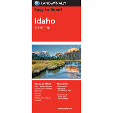 Idaho State Map by Rand Mcnally Easy To Read State Folded Map Idaho