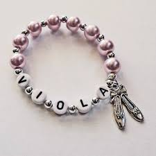 infant name bracelet ballet party favor name bracelet jewelry personalized name bracelet