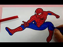 spiderman coloring pages color spiderman superhero