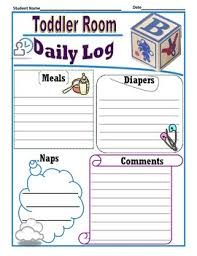 toddler daily log template by calendarlady teachers pay teachers