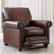 Old World Brown Leather Recliner - Leather chairs and sofas
