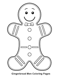 gingerbread men with bow tie coloring page coloring sun