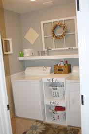 Vintage Laundry Room Decorating Ideas by Small Basement Ideas Simple Small Laundry Room With Shelving