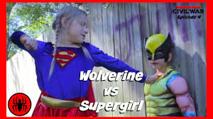 little heroes wolverine vs supergirl in real life civil war