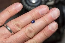 benitoite engagement ring 0 75 carat benitoite earth s treasury