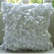 amazon com handmade white pillow cases vintage style ruffles