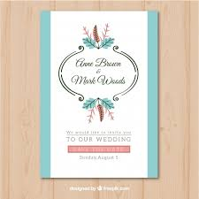 wedding invitation withvintage ornaments vector free download