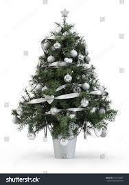 fabulous tree white ornaments on stock illustration