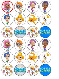 guppies cake toppers 24 x guppies edible wafer cup cake bun cake toppers