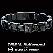 metal bracelet images Black metal mens bracelets tribal hollywood jpg
