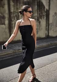 my black dress halter neck dress christopher esber black dress backless
