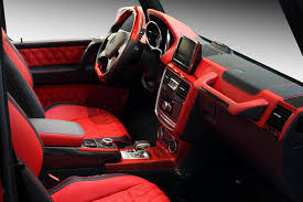 customized g wagon interior g63 amg with hamann body kit and topcar interior is a red russian