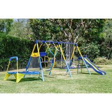 swing set for backyard outdoor metal playground toddler kids slide