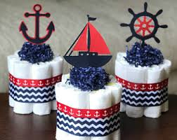 Anchor Decorations For Baby Shower Nautical Diaper Cake Etsy