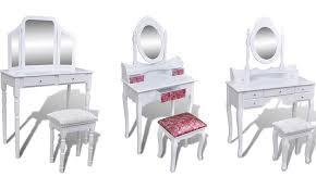 coiffeuse blanche si e avec miroir inclus coiffeuse blanche avec miroir et tabouret groupon shopping