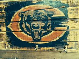 chicago bears vintage wall hanging woodworksdaniel on etsy chicago