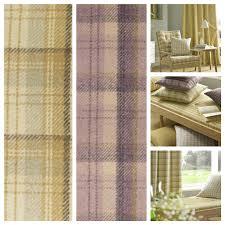 Curtain Upholstery Fabrics Ashley Wilde Edderton Tartan Check Curtain Upholstery Fabric 2