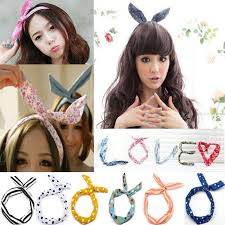 korean headband hot fashion multicolor korean girl bunny ear headband rabbit