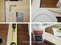 thrifty and chic diy projects and home decor building framed mirrors