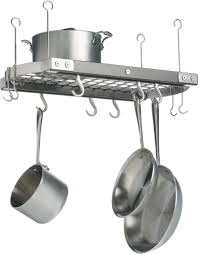lighted hanging pot racks kitchen j k adams small grey ceiling pot rack grey ceiling pot rack