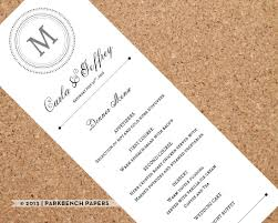 wedding menu template printable wedding dinner menu editable