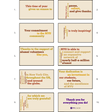 nyu alumni and donors animated thanksgiving card wolff mills design