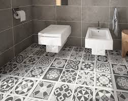 tile floor and decor vintage blue grey tile decal floor tile decal bathroom