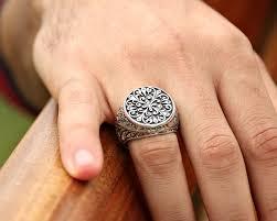 mens rings com images Decorative special handmade 925 sterling silver men 39 s ring zenn jpg