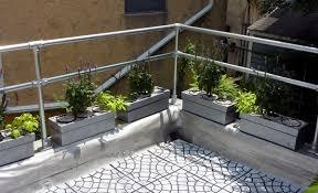 modern metal deck railing simplified building