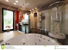 bathroom with bathtub and shower stock photo image 54412653