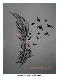 unique feather tattoo designs 3