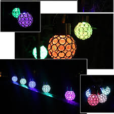 innovative solar ball hanging led lamp outdoor color changing