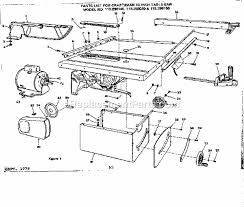 craftsman 10 inch table saw motor craftsman 113298140 parts list and diagram ereplacementparts com