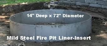 Fire Pit Inserts by Steel Fire Pit Liner Metal Insert Www Higleyfirepits Com Builder