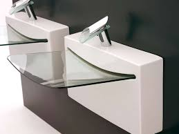 designer sinks bathroom modern glass bathroom sinks lovely contemporary pedestal sinks