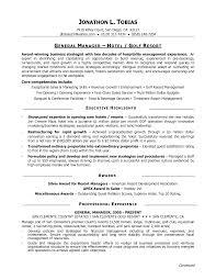 General Resume Samples by Hotel General Manager Resume Berathen Com