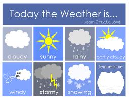 weather printable for preschoolers