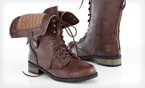 brown leather boots womens target carrini s vegan leather combat boots 29 shipped the