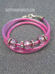 beaded wrap bracelet tutorials images Diy beaded glitter wrap bracelet happy hour projects jpg