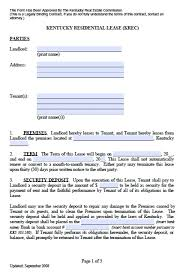 free kentucky residential lease agreement u2013 pdf template