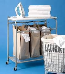 honey can do folding table laundry sorter with ironing board laundry sorter with ironing board