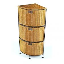 Rattan Bathroom Furniture Home Design Bathroom Brown Rattan Storage With Black