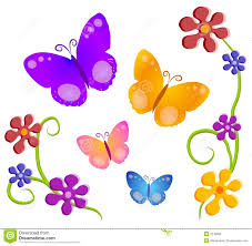 color clipart flower butterfly pencil and in color color clipart
