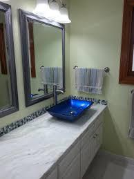 blue glass vessel sink bathroom glass vessel sink kraususa com