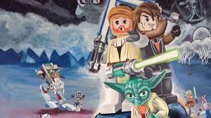 lego star wars mural hand painted by drews wonder walls youtube
