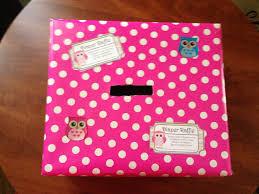 diaper raffle box that i made baby shower ideas pinterest