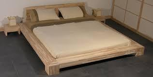 letto a legno massello letto isola di cinius stile giapponese in legno massello senza tatami