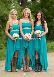 modest 2017 cheap turquoise bridesmaid dresses short sweetheart