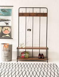 entryway wood hall tree coat rack storage bench tradingbasis free